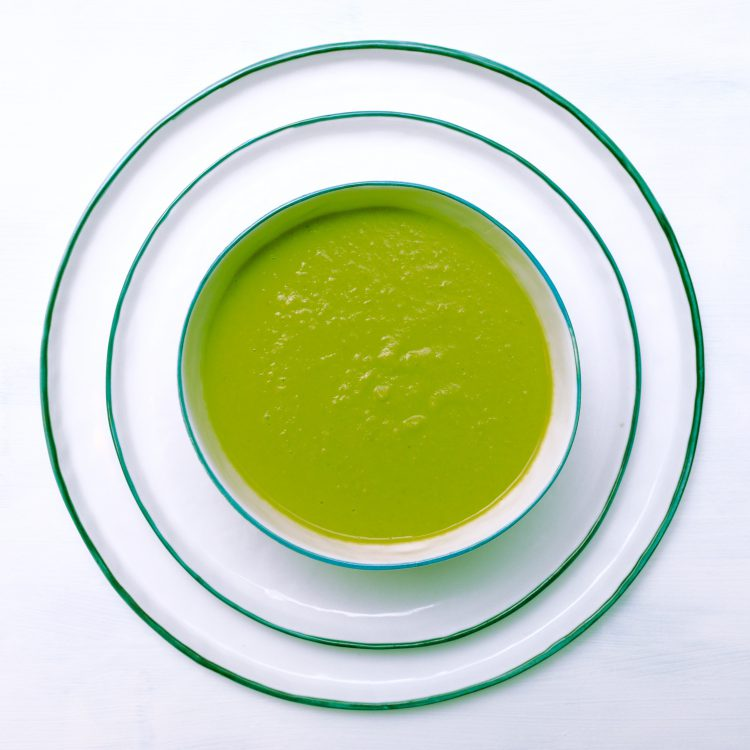 Green Pea and Coconut Soup