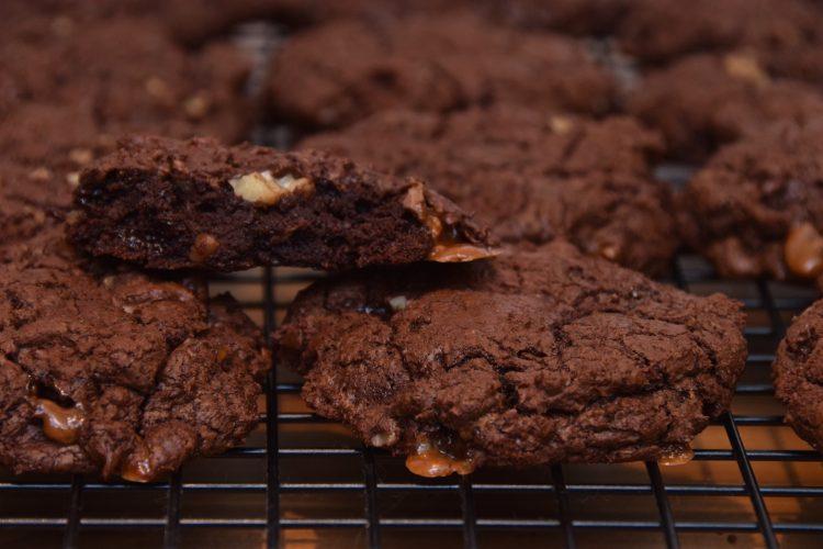 Chocolate Toffee Brownie Cookies