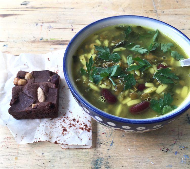 Aash-e reshte:  Legume Noodle Soup
