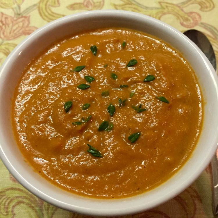 Cashew Creamy Tomato Soup with Smoked Garlic
